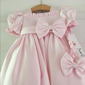 Other - NWT Pink satin dress - 12 months
